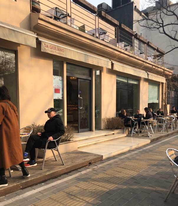 お目当てのカフェ「DA GIULIANO」