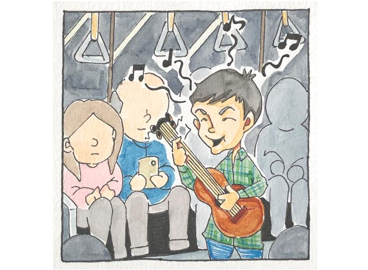 中国の電車車内にてその2