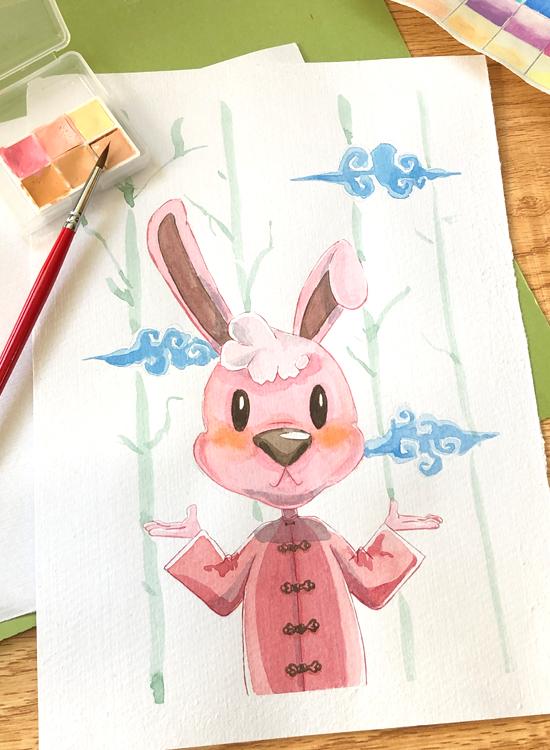 ウサギのチャイナ服