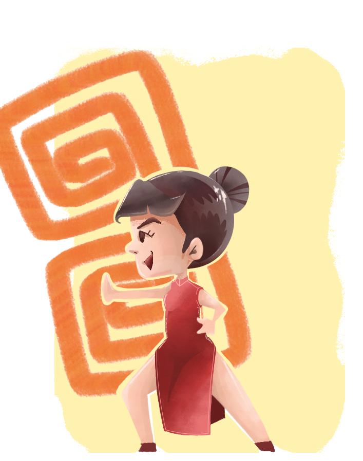 チャイナ服女の子イラスト