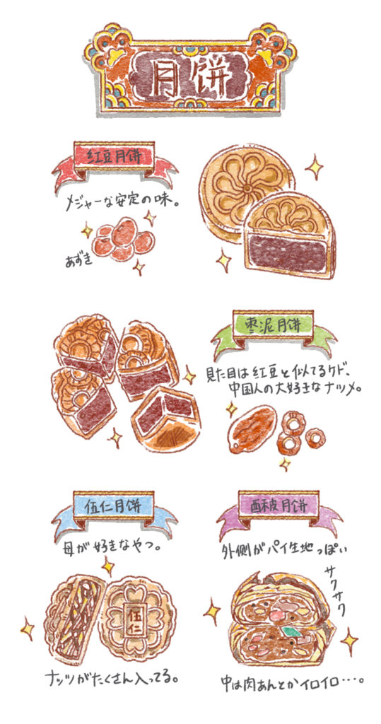 月餅の種類色々01