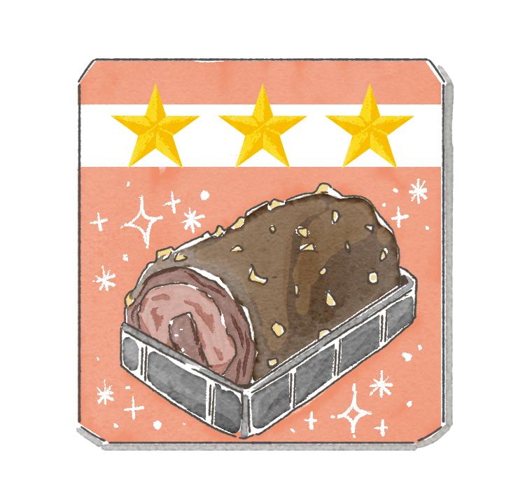 トリプルチョコロールケーキ